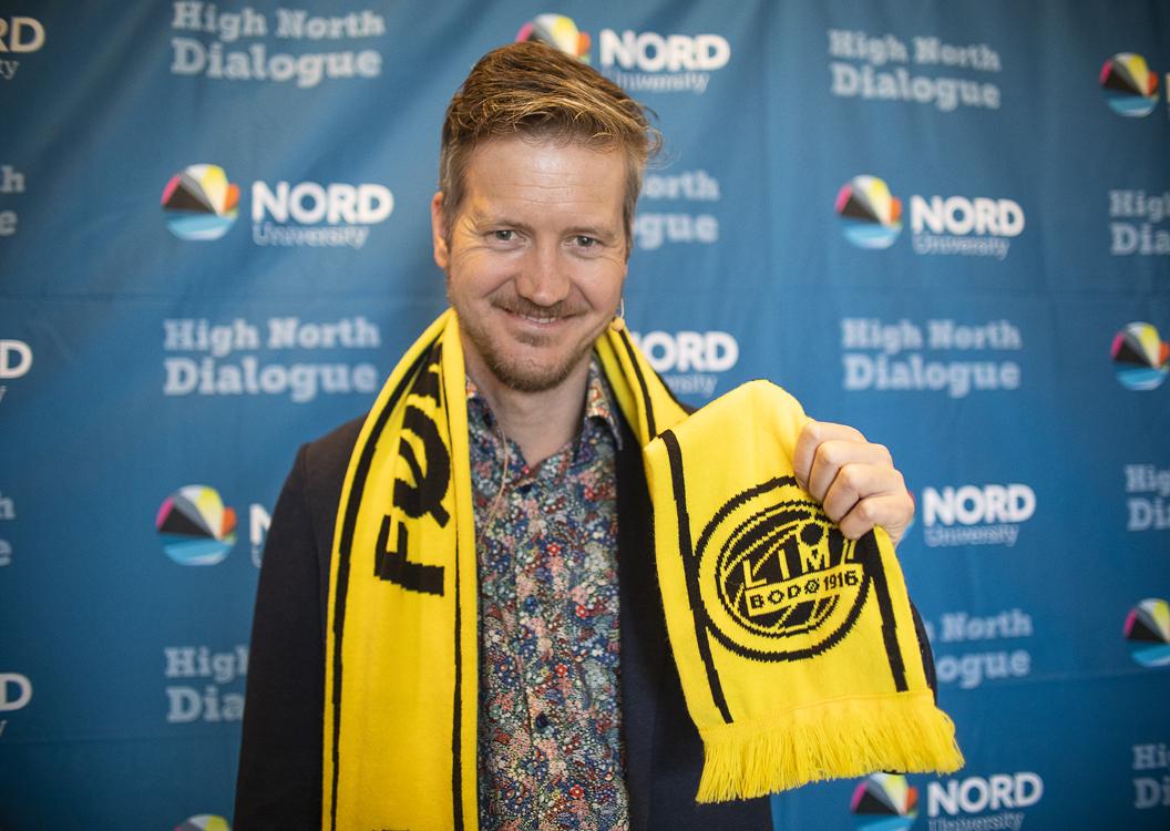 Andreas Raspotnik med Bodø/Glimt-skjerf