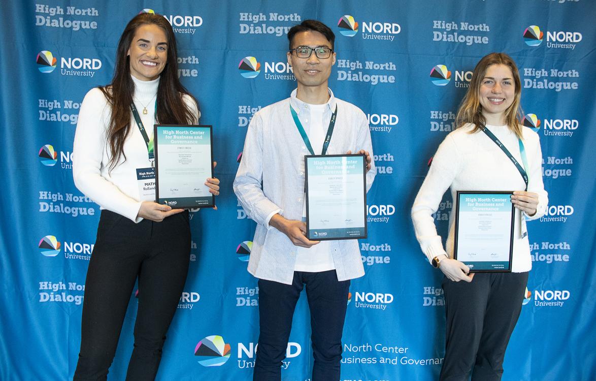 High North Scenarios: Mathilde Rolland Fjelde, Fangxin Liu og Anastassia Kolesnikova