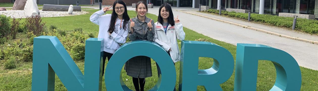 Kinesiske studenter ved Nord universitet i Bodø